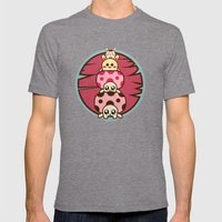 Mushrooms And Mens Fitted Tee Tri-Grey SMALL