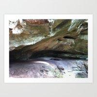 Hoosier National Forest - Rockface Art Print
