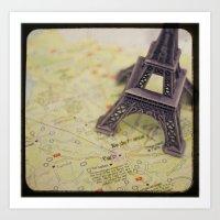 Trip To Paris Art Print