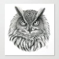 Bubo bubo G2012-046 owl Canvas Print