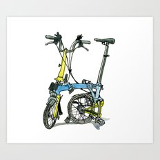 My brompton standing up Art Print