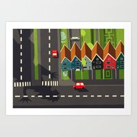 There goes the neighborhood  Art Print