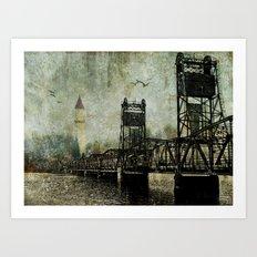 Beyond the Bridge Art Print