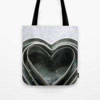 Hearts Together - Vintage Bakeware  Tote Bag