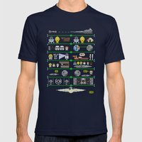 A Knit Hope Mens Fitted Tee Navy SMALL