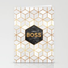 Like A Boss Stationery Cards