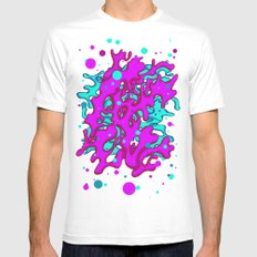 Bubble Gum Pop! SMALL White Mens Fitted Tee