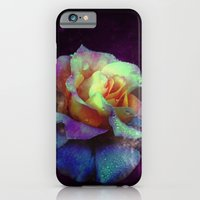 iPhone Cases featuring Purple Kissed Rose by minx267