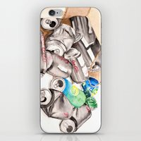 Spilled Cans iPhone & iPod Skin