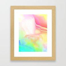 Pastel Pool Hallucination Framed Art Print