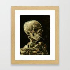 Skull of a Skeleton with Burning Cigarette by Vincent van Gogh Framed Art Print