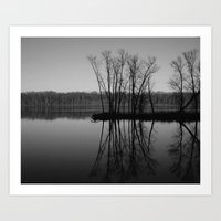 Mississippi mirror Art Print