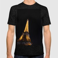 Eiffel Tower Mens Fitted Tee Tri-Black SMALL