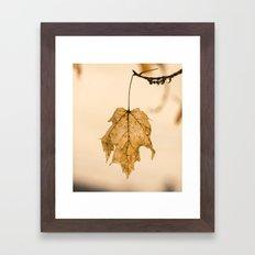 The Last Leaf Framed Art Print