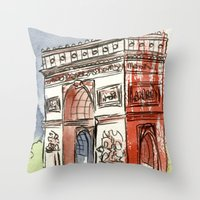 L'Arc De Triomphe Throw Pillow