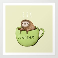 Sloffee Art Print
