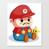 Baby fat mario Canvas Print