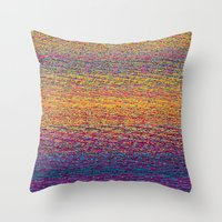 CMYK Glitch Throw Pillow