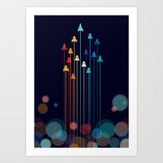 Rocket Race! Art Print