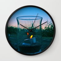 Seaside flame Wall Clock