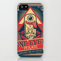 iPhone Cases featuring One-eyed Pirate by Victor Beuren