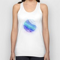 AGATE Inspired Watercolor Abstract 07 Unisex Tank Top