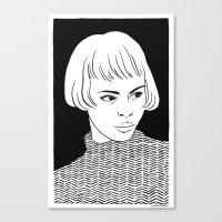 Chic Lady Canvas Print