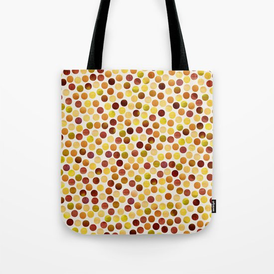 Watercolor Dots_Amber Tote Bag