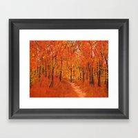 Alive In Autumn Framed Art Print