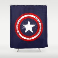 Captain's America Splash Shower Curtain