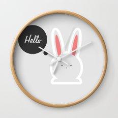 Hello Pets no.4 Wall Clock