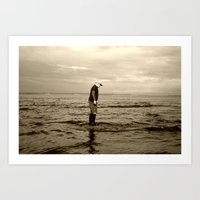 A Boy And The Sea Art Print