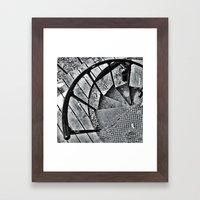 Spiral Staircase I Framed Art Print