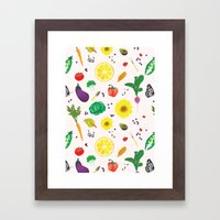 Delicious Vegetables Framed Art Print