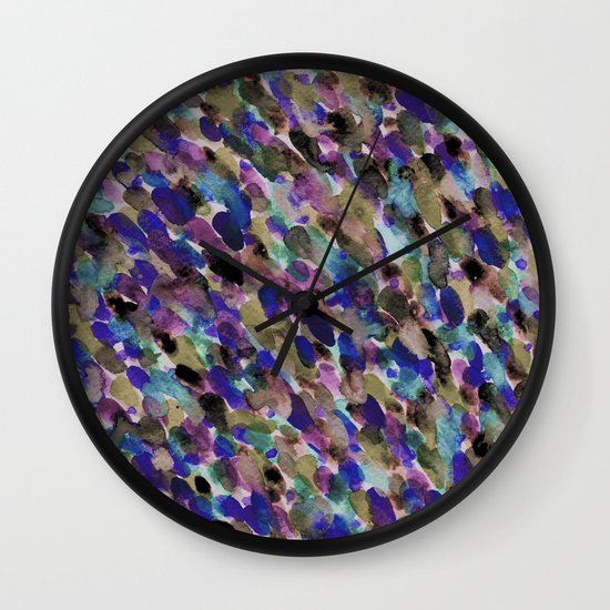 Purple and Olive Wall Clock