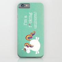 unicorn iPhone & iPod Cases featuring Unicorn - I'm a maturely speaking unicorn!!! by LucyDynamite