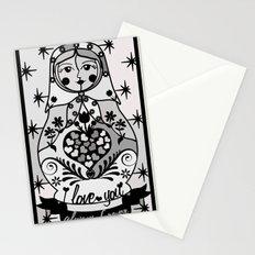 Gray matryoshka by Lilach Vidal Stationery Cards