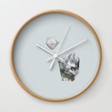 Alaska from above Wall Clock