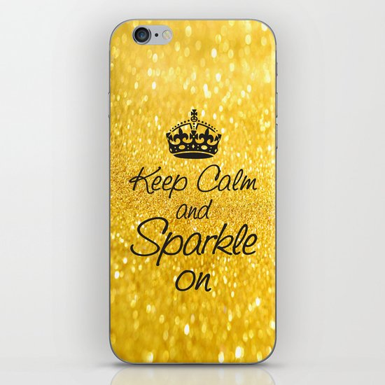 Keep Calm and Sparkle On iPhone & iPod Skin