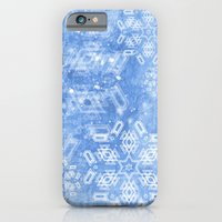 Abstract Snow Flakes On … iPhone 6 Slim Case