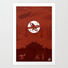 Avatar Book Fire - Version 2 Art Print