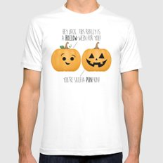 You're Such A Pun-Kin! SMALL Mens Fitted Tee White