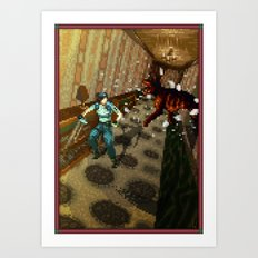 Pixel Art series 10 : Dogs Art Print