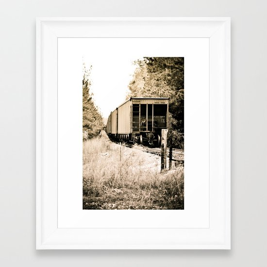 Tracks of Time Framed Art Print