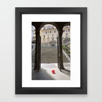 Red Ballon Framed Art Print