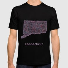 Connecticut Mens Fitted Tee Black SMALL