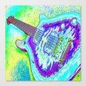 Neon Psychedelic Guitar Canvas Print