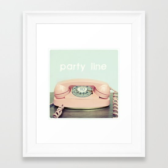 Party Line Framed Art Print