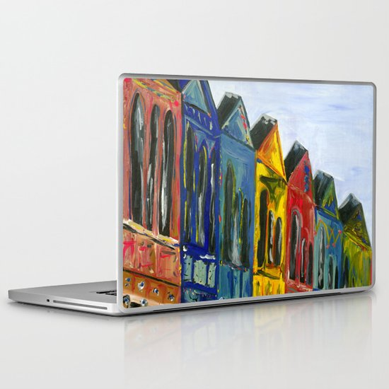 Rainbow Row Laptop & iPad Skin