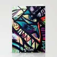 artist series skate graphic Stationery Cards